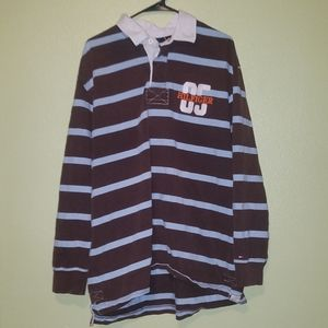 Tommy Hilfiger Long Sleeve Striped Polo Shirt XL